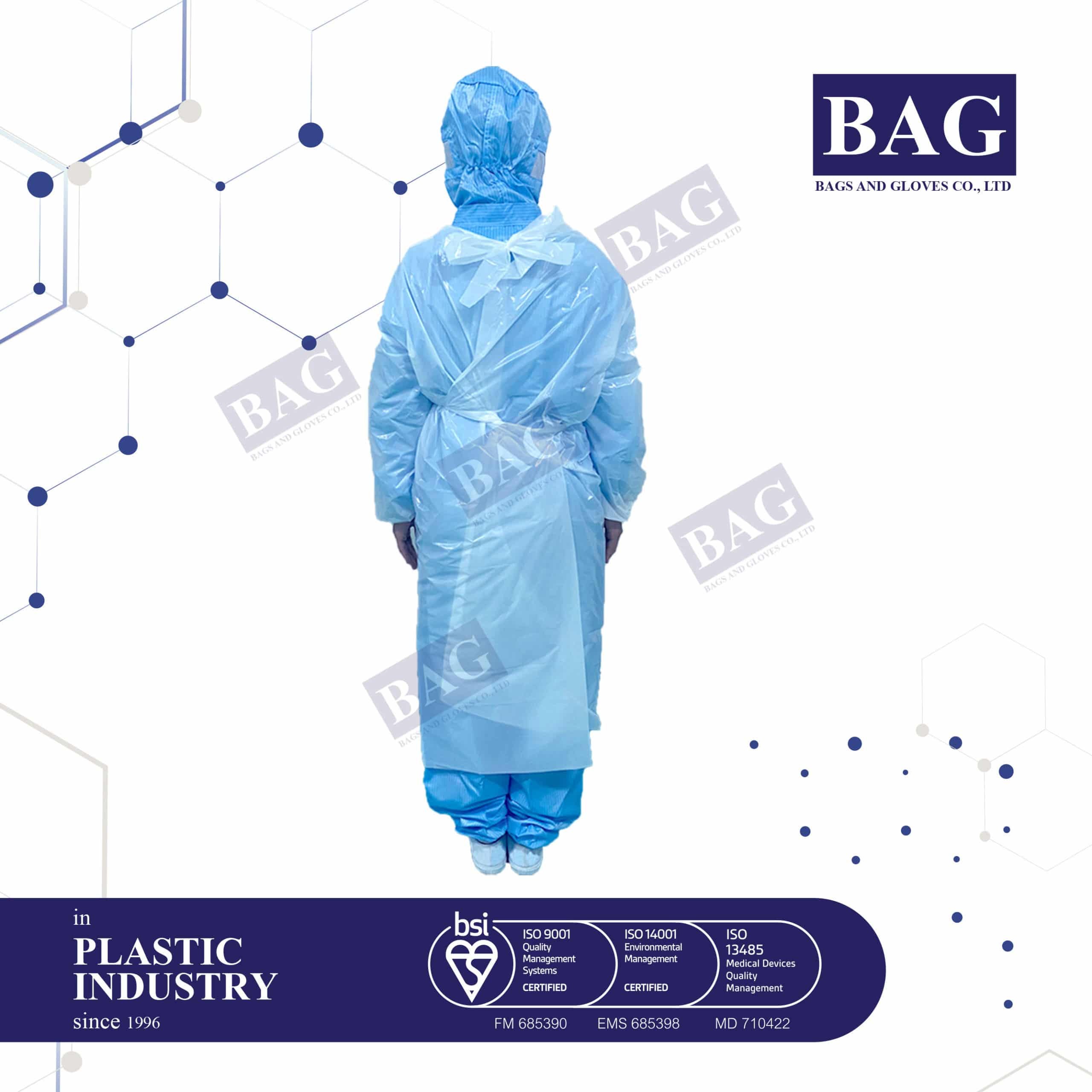 Plastic Coverall suit