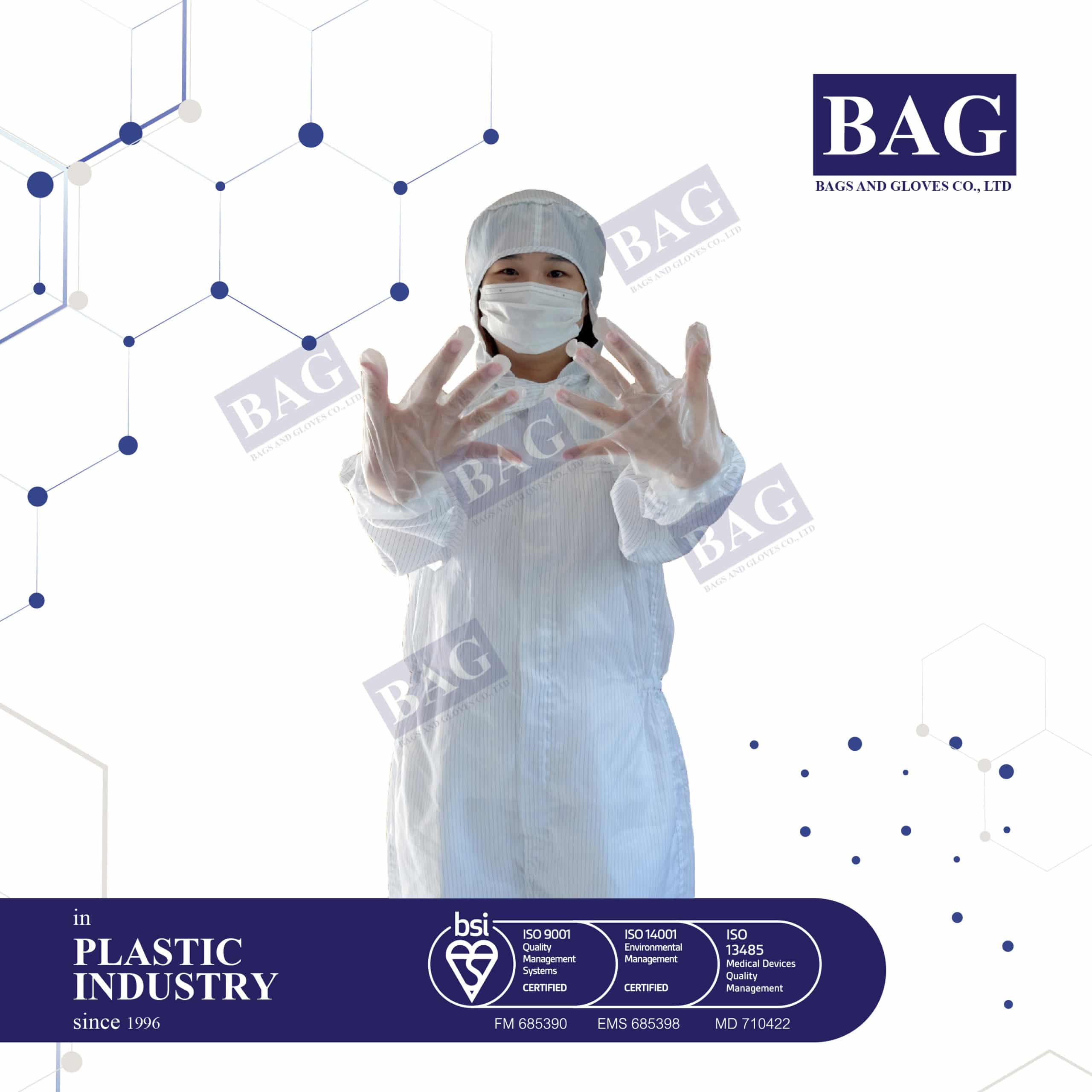 Disposable transparent CPE gloves
