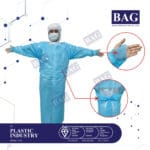 Disposable gown with thump loop